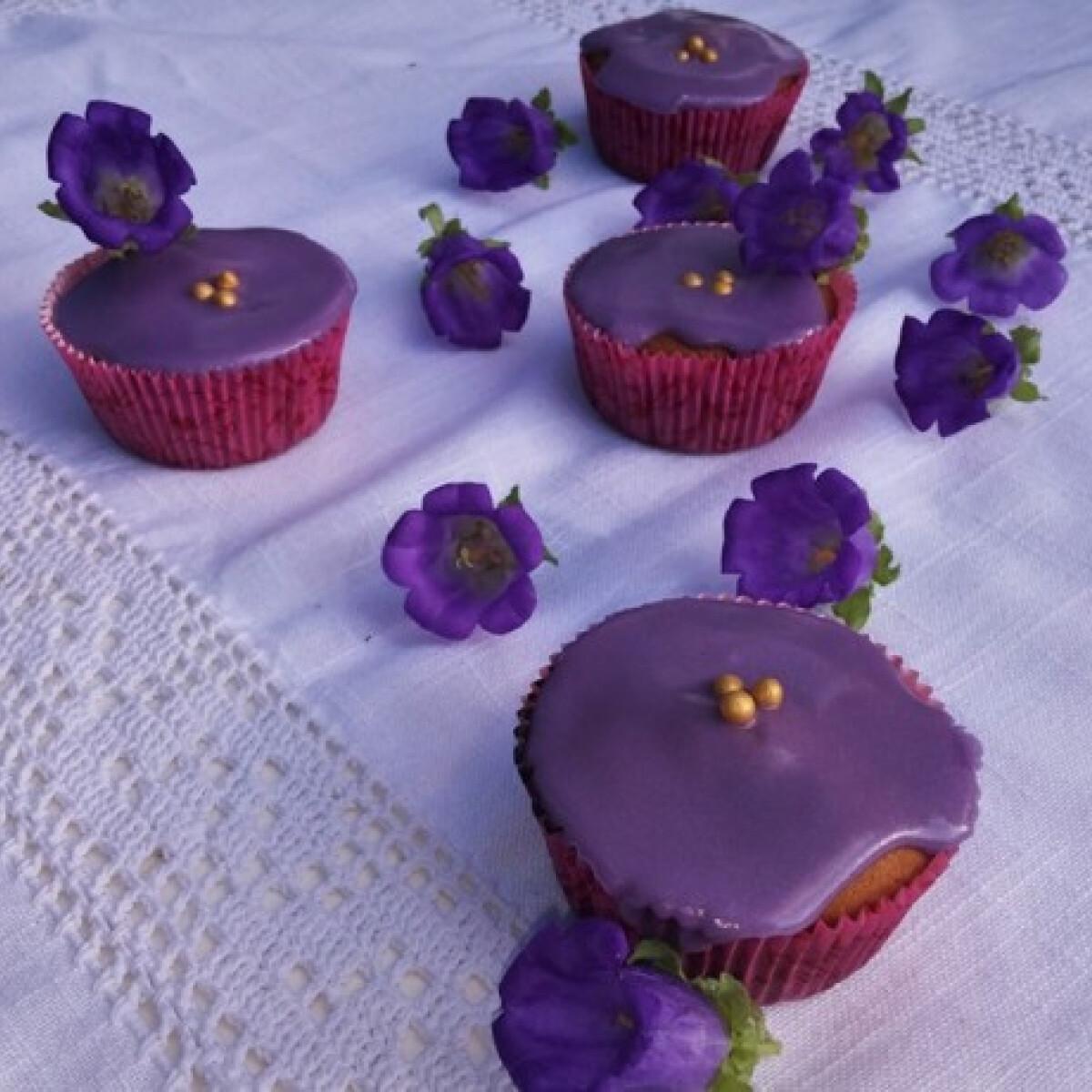 Mézes levendulamázas cupcake