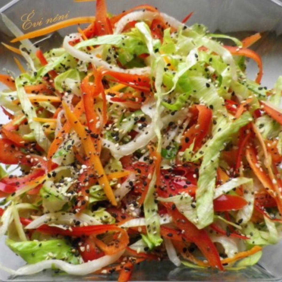 Ezen a képen: Könnyű saláta Évi néni konyhájából