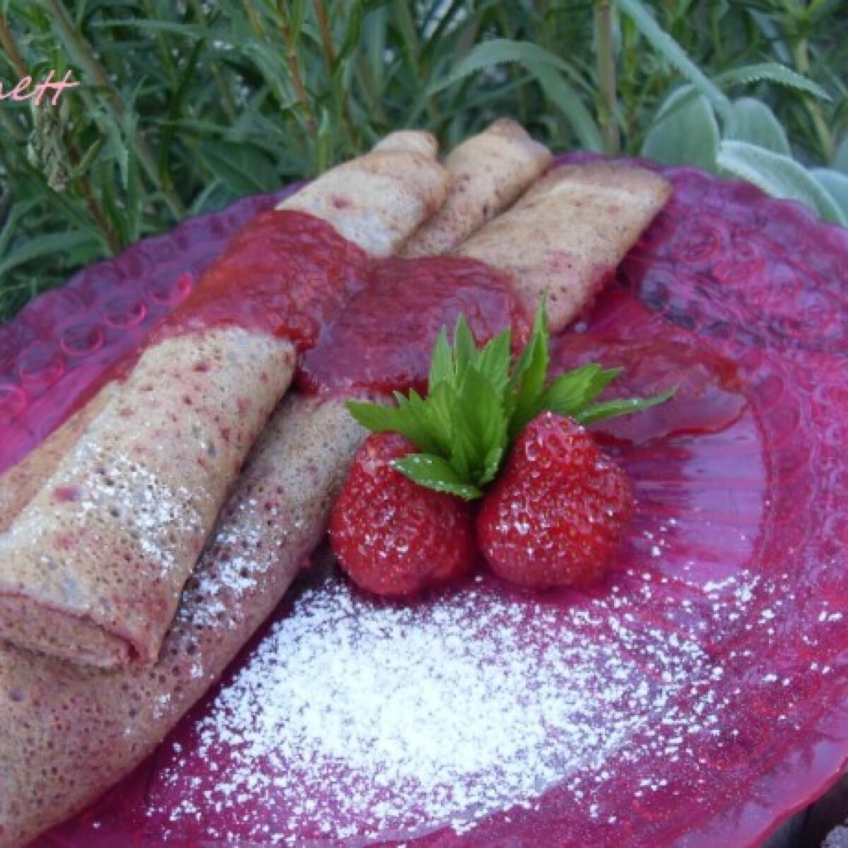 Ezen a képen: Glutén-, cukor- és laktózmentes palacsinta