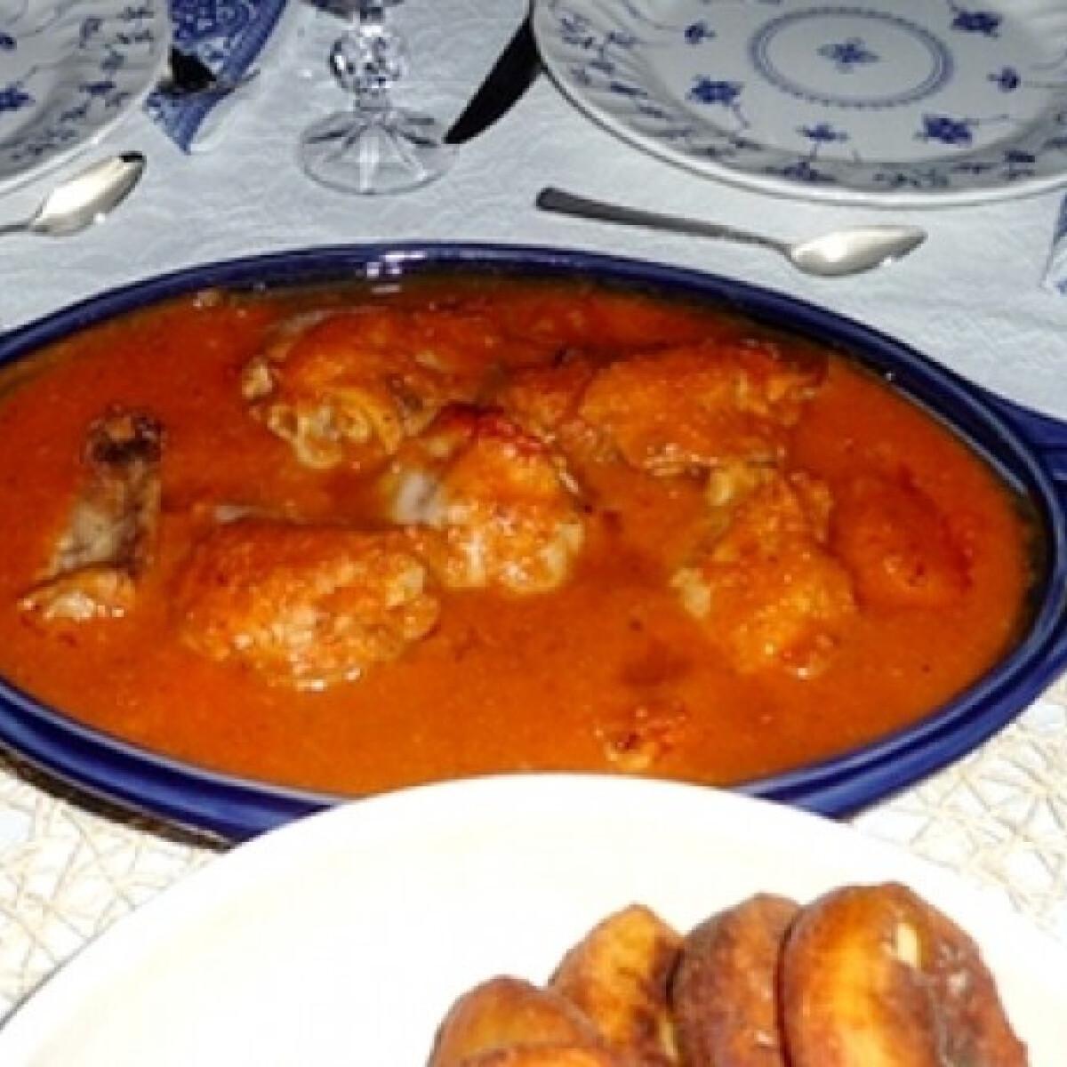 Ezen a képen: Flambírozott baszk csirke