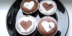 Kakaós szívecskés muffin