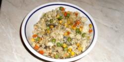 Zöldséges rizs wokban