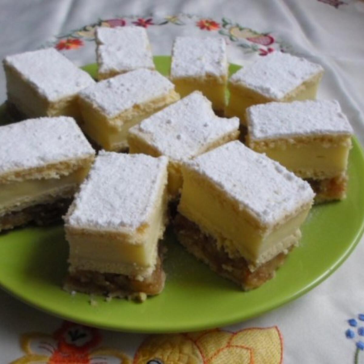 Almás-vanília krémes