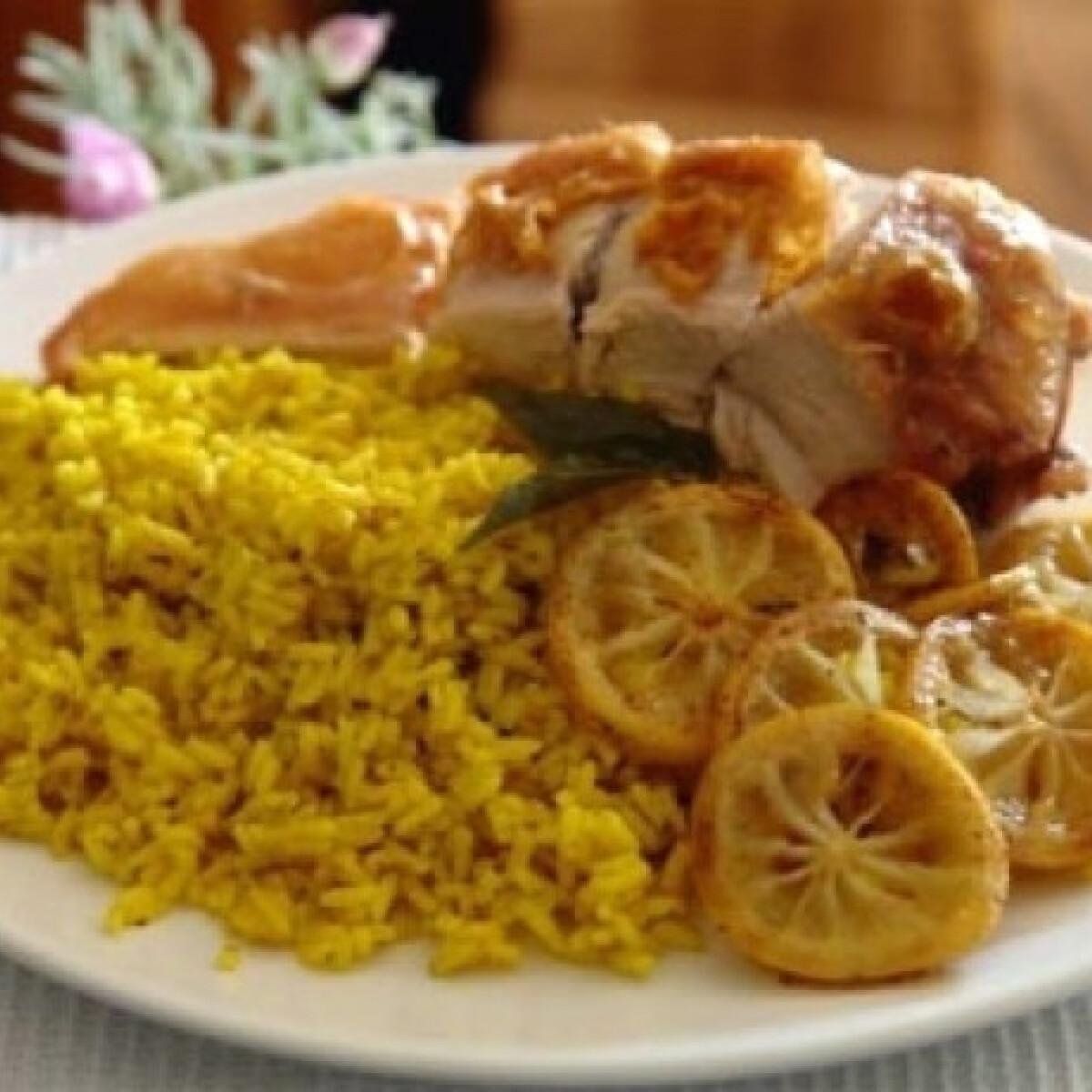 Citromos rizs sültcsirkével
