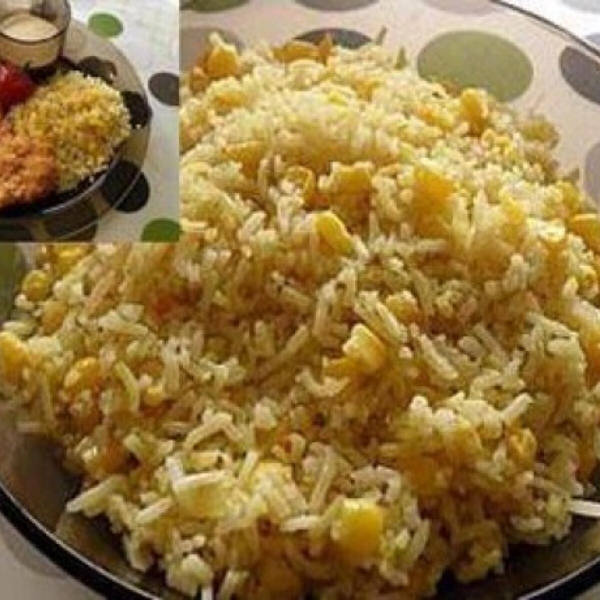 Ezen a képen: Hagymás-kukoricás rizs