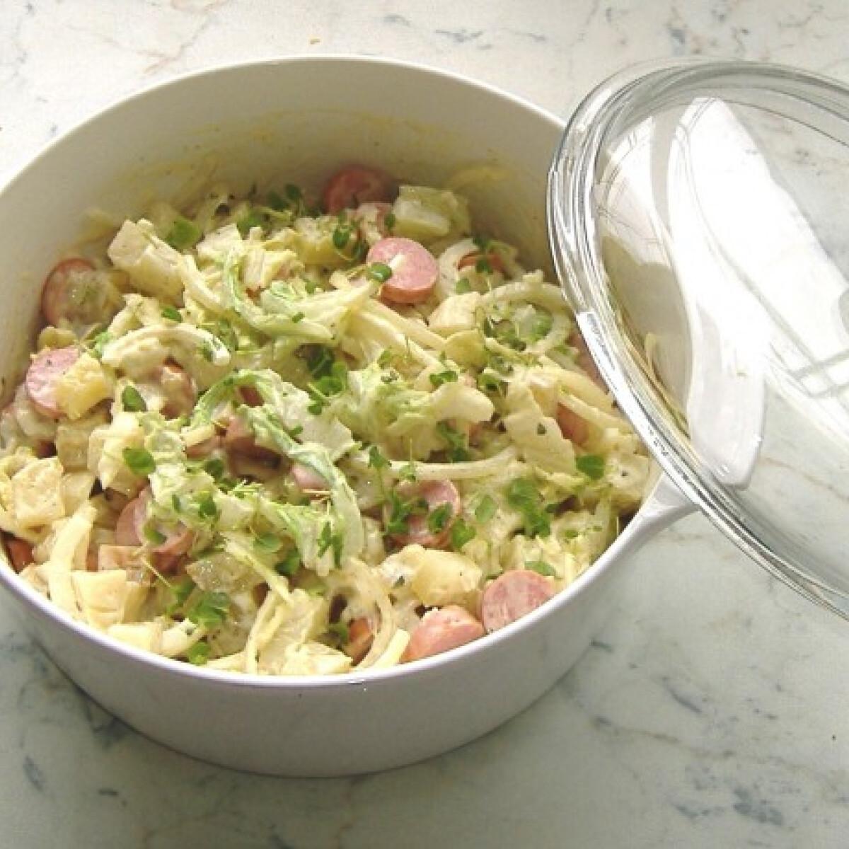 Ezen a képen: Frankfurti saláta újragondolva