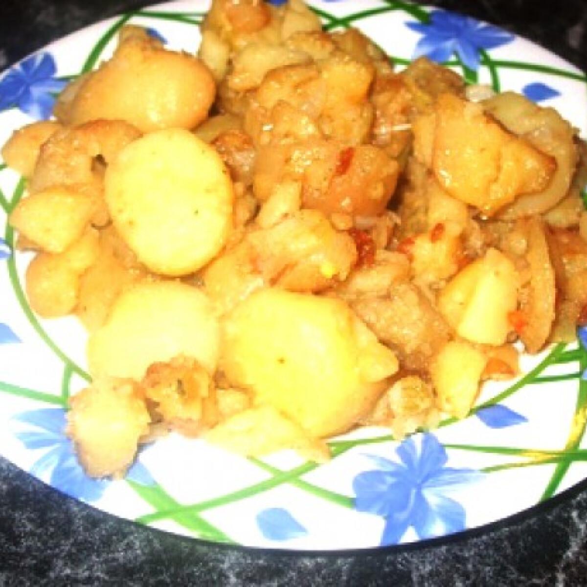 Ezen a képen: Hagymás burgonya Vandre konyhájából