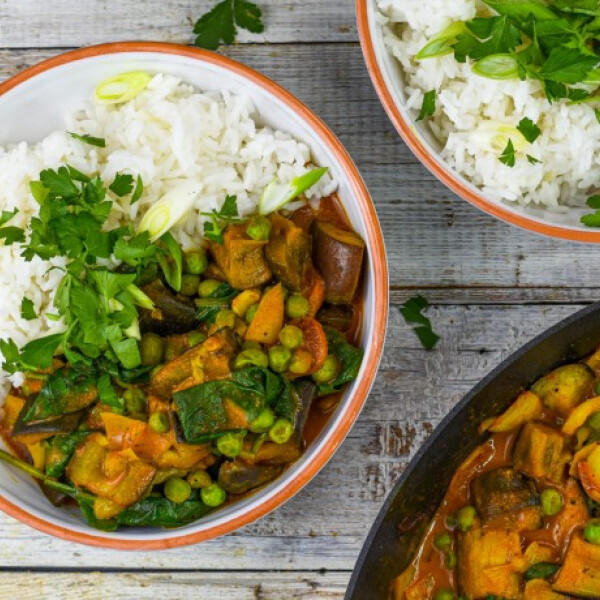 Villámgyors padlizsán curry