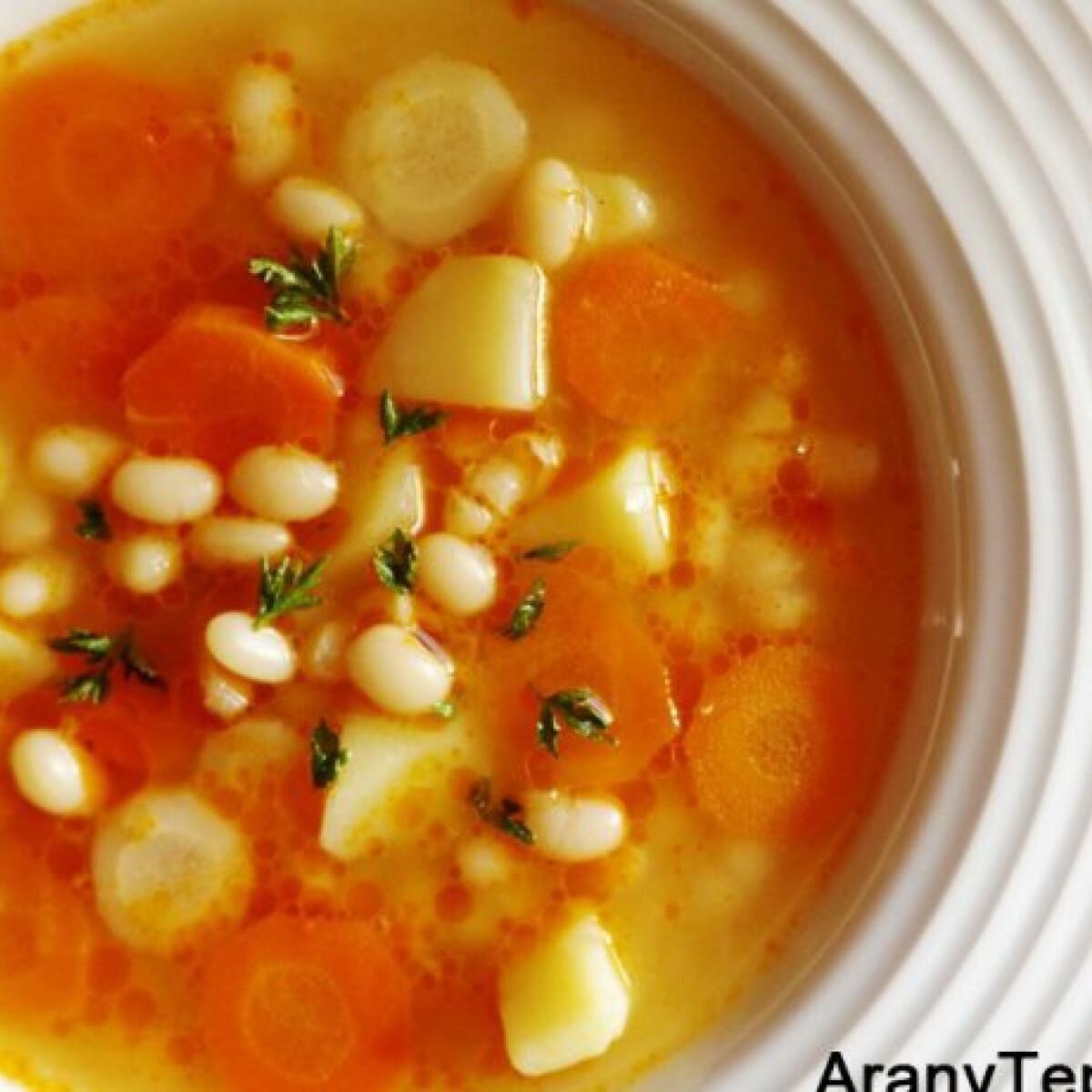 Ezen a képen: Gyöngybab leves