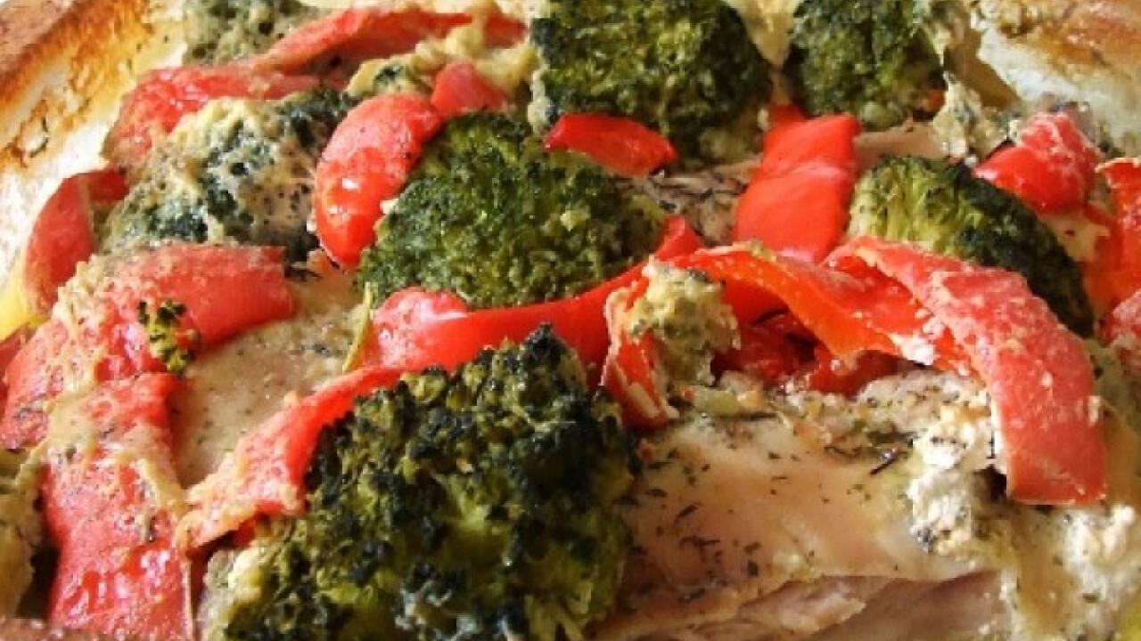 Brokkolis csirke ahogy Kif Lee készíti
