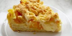 Vaníliapudingos-barackos pite