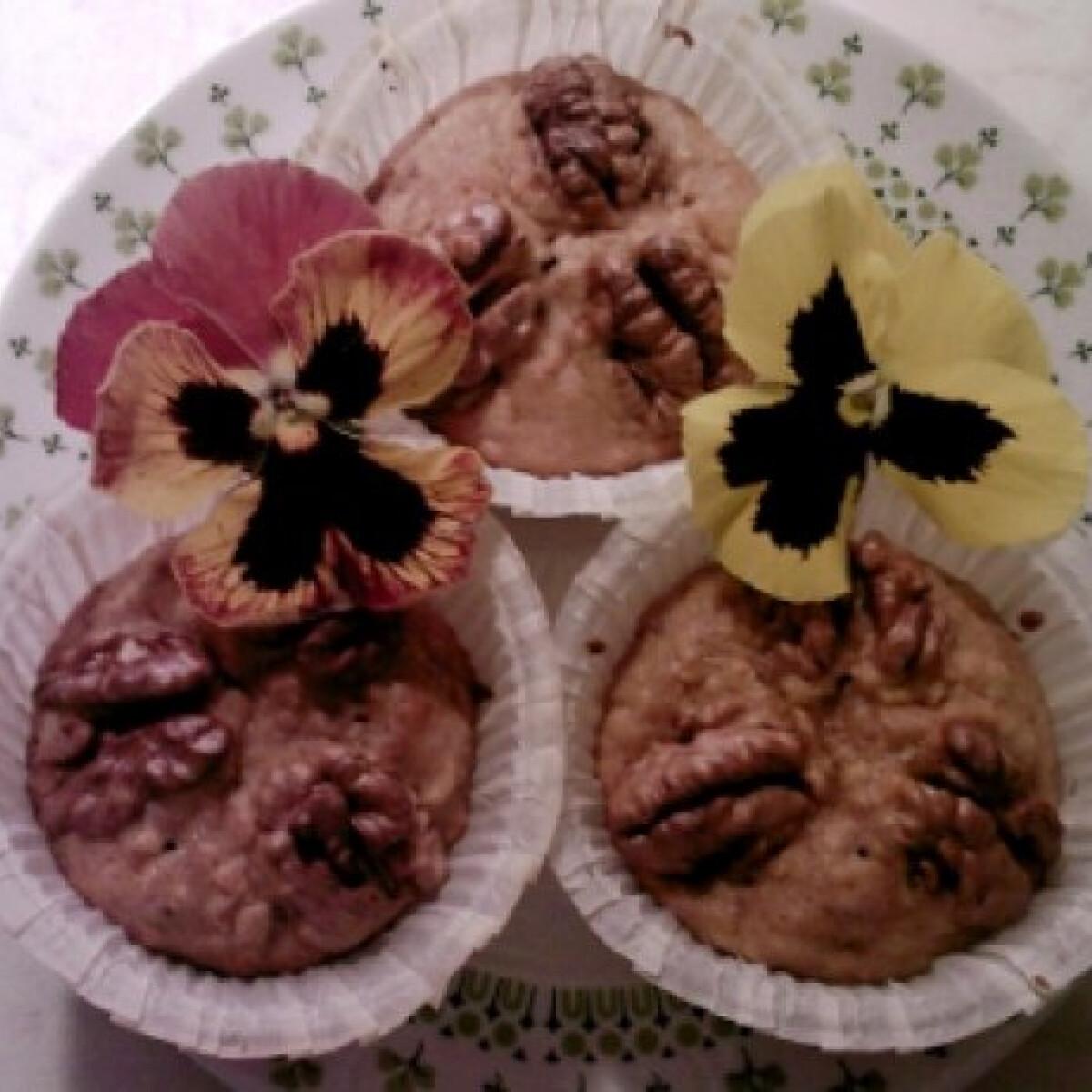 Almás-diós gyors muffin