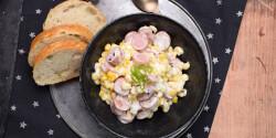Majonézes-kukoricás virslisaláta