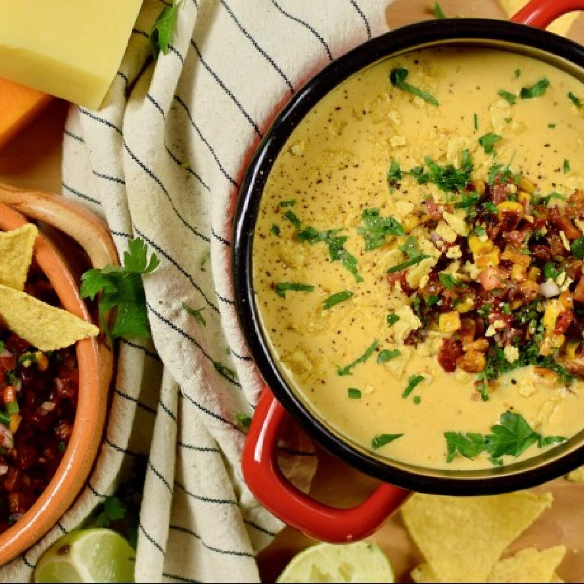 Ezen a képen: Tex-Mex kukorica-krémleves