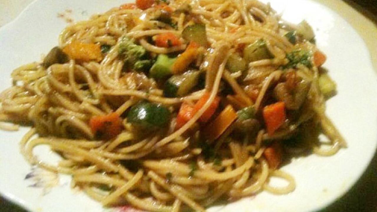 Kínai zöldséges tészta Marcitól