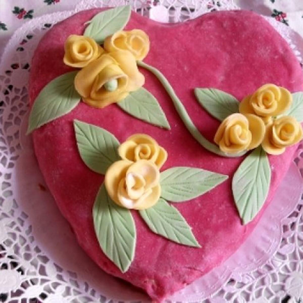 Ezen a képen: Valentin napi kókuszos torta