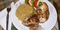 Calendulás rizs fűszeres csirkével