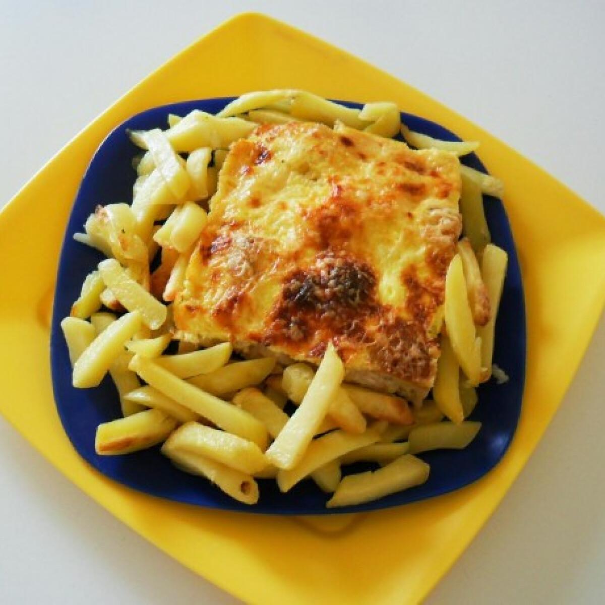 Sonkás-sajtos csirkeropogós