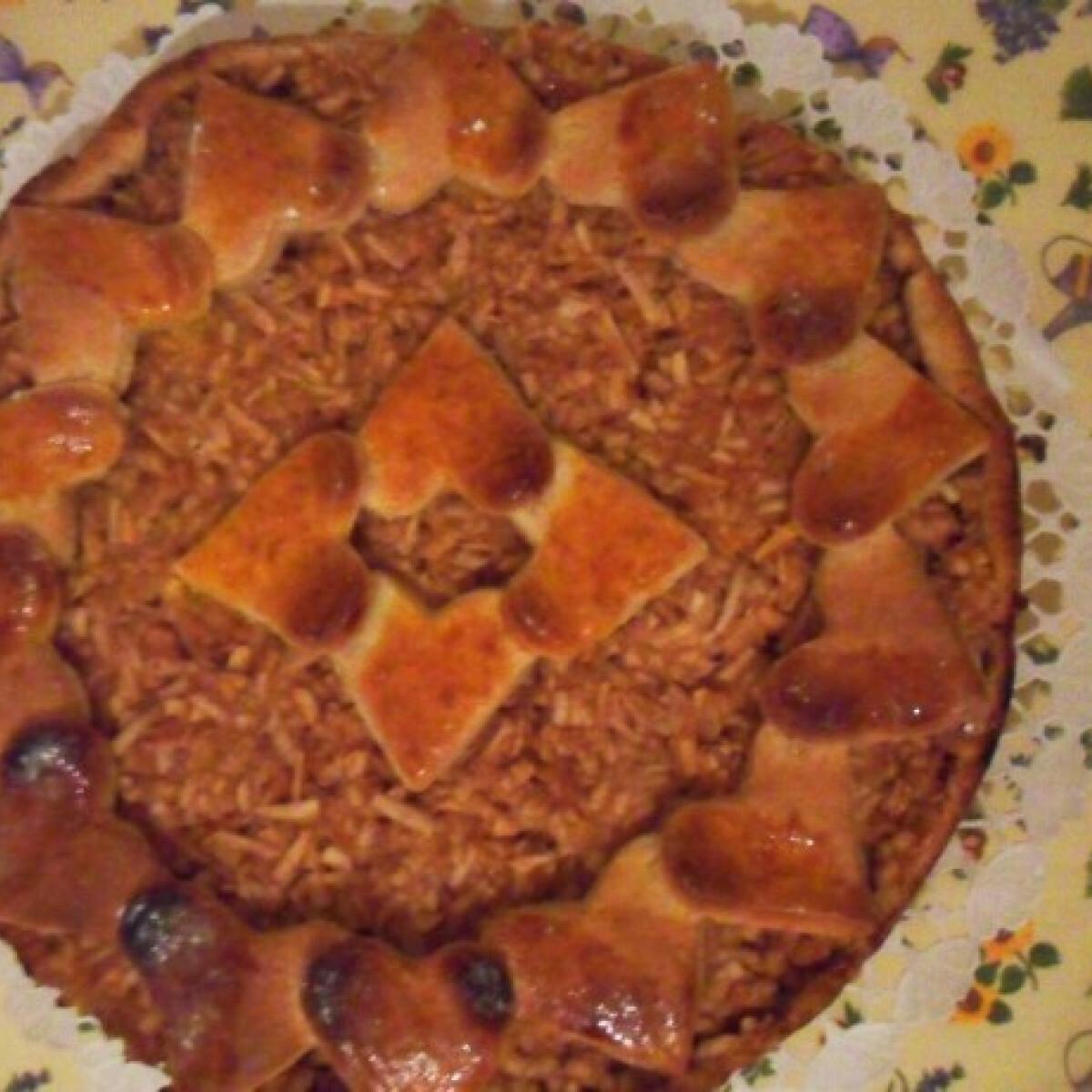 Szíves almás pite