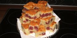 Bevált meggyes kevert süti