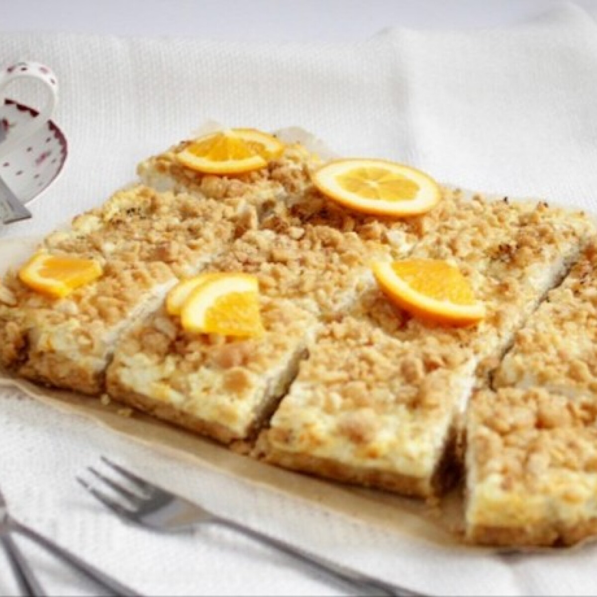 Narancsos-gyömbéres túrós pite villámgyorsan