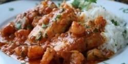 Currys sült hal és garnéla
