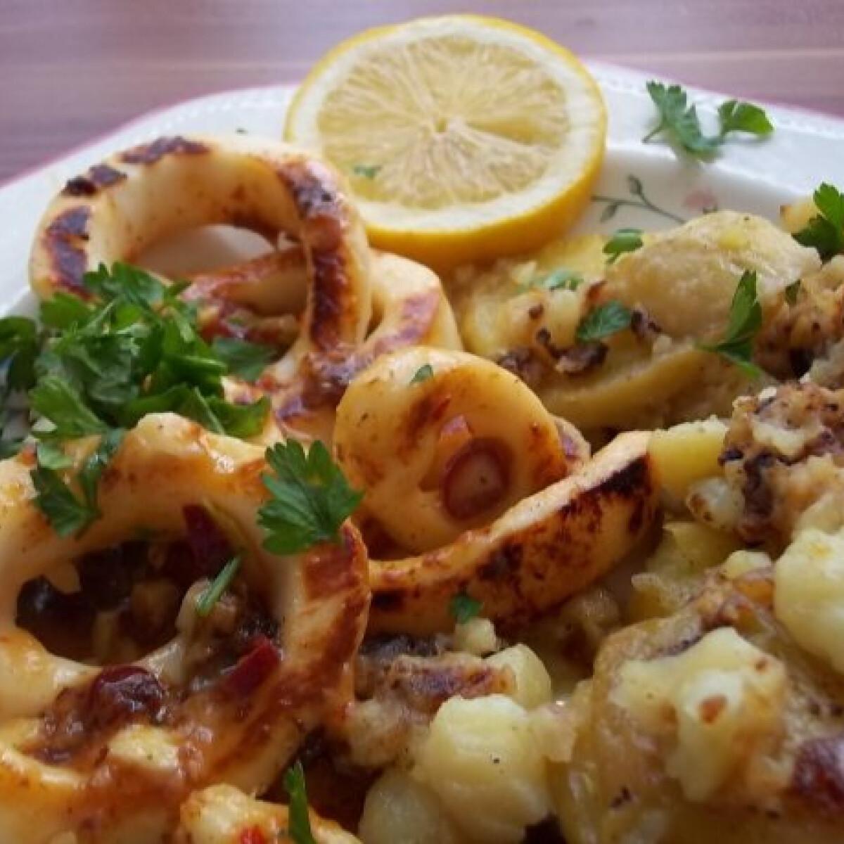Fehérboros-chilis-fokhagymás tintahalkarikák
