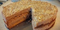 Gluténmentes mogyorókrémes torta