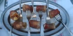 Sárgadinnye mozzarella és pármai sonka falatok