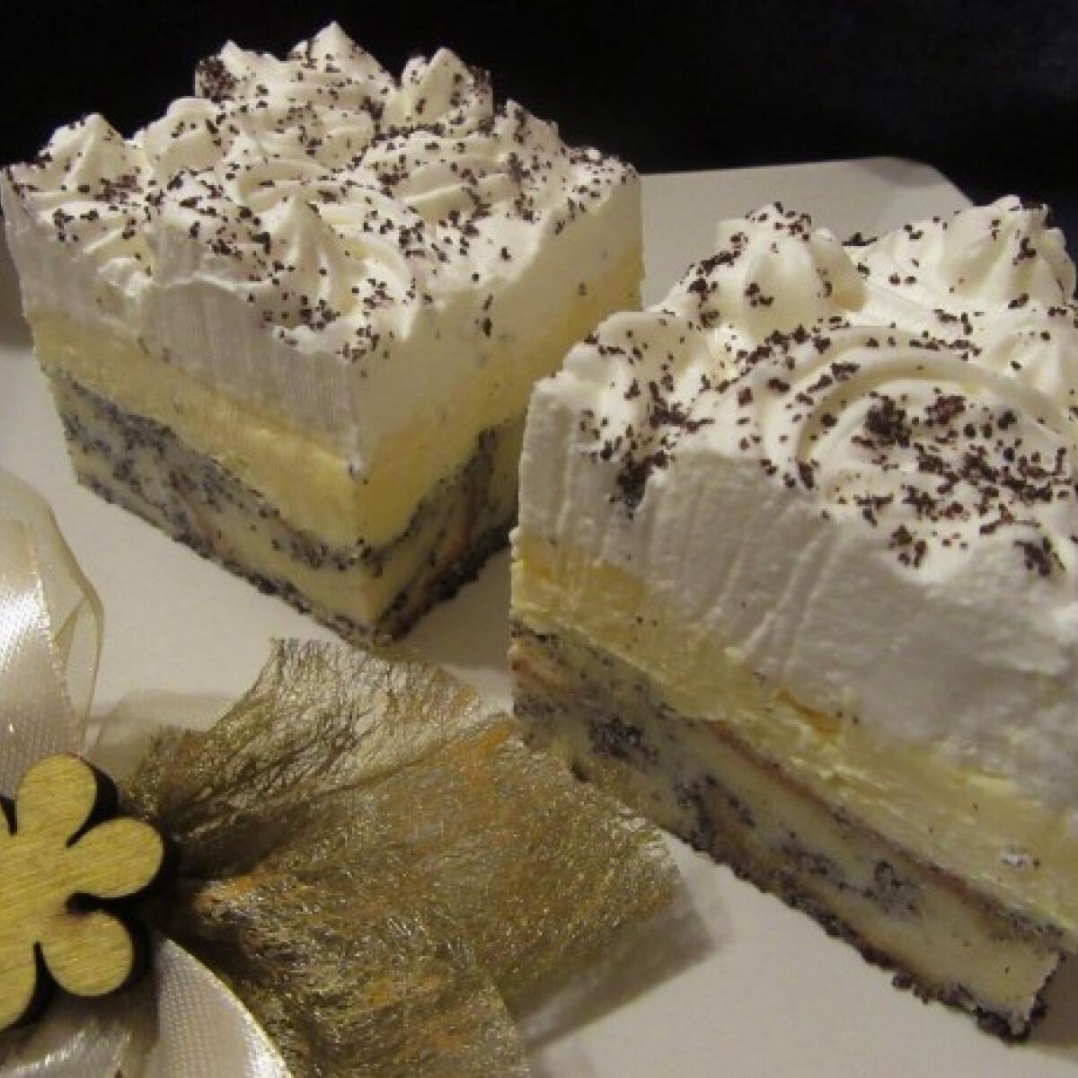 Ezen a képen: Mákosguba-sütemény