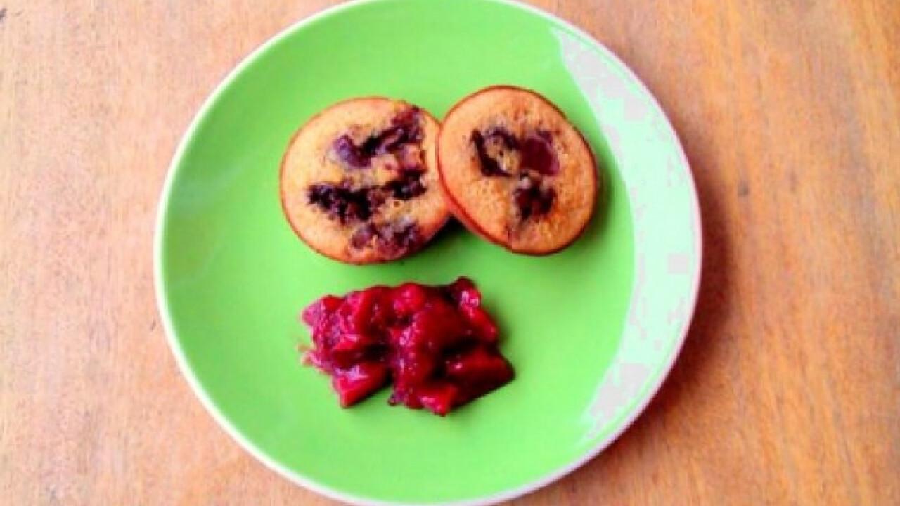 Szilvás-csokis muffin