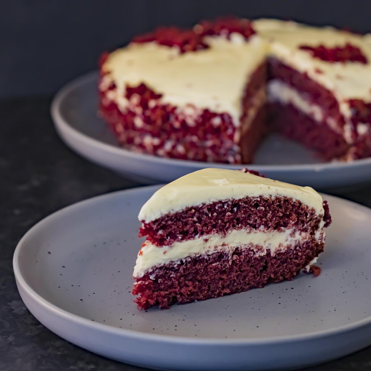 Red velvet - Vörösbársony torta