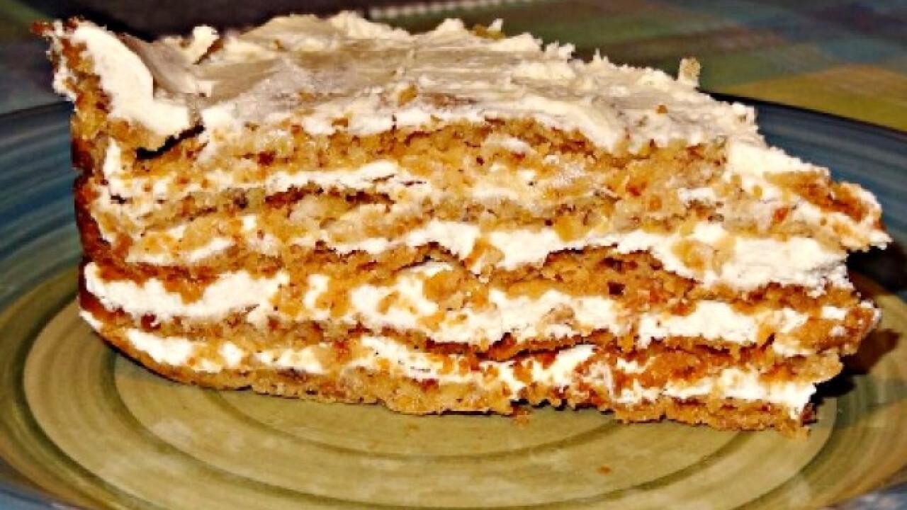 Diós-tejszínes torta