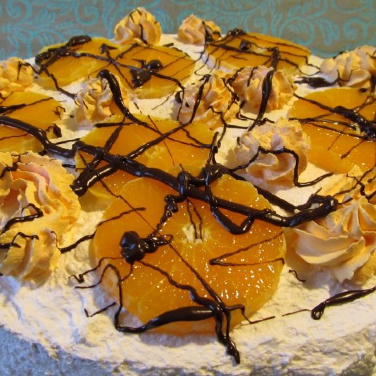 Narancsos pudingos torta