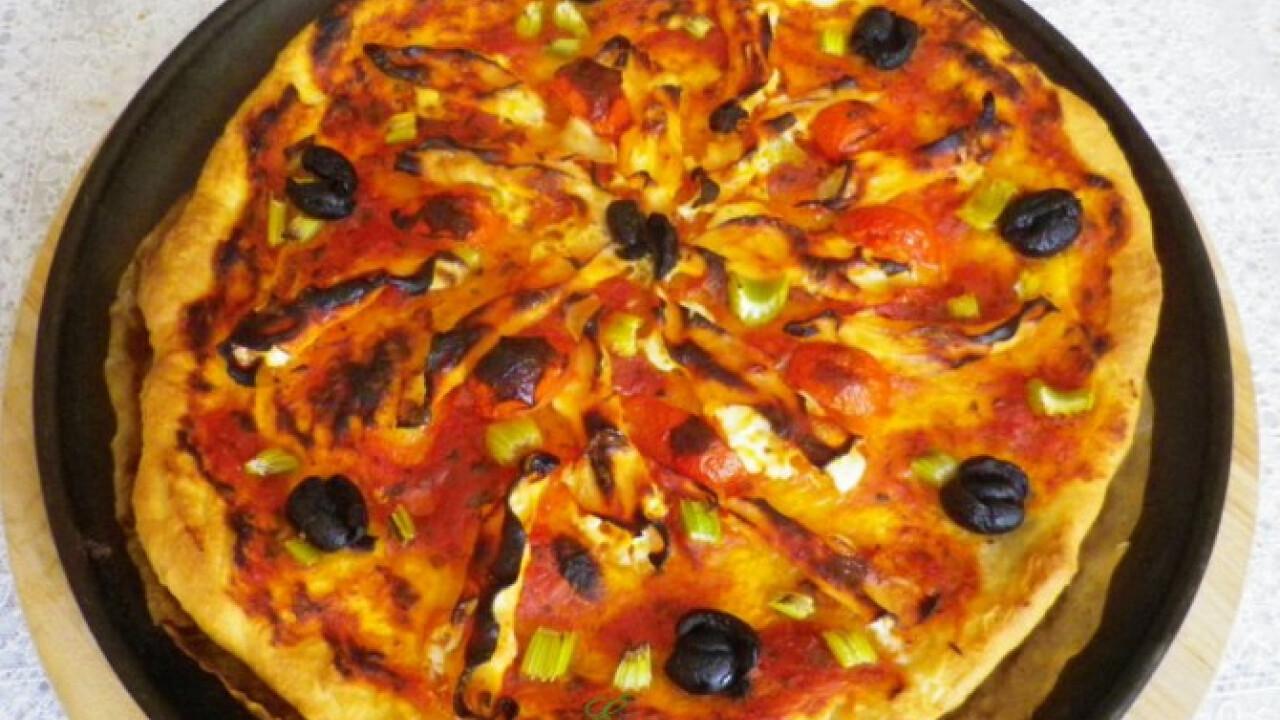 Mascarponés-sonkás pizza