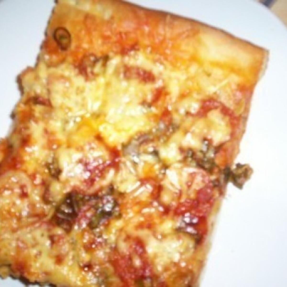Tepsis pizza - magyaros pizza 3.