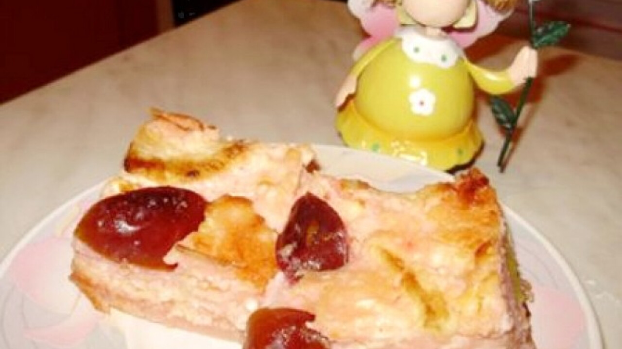 Eperpudingos-túrós süti
