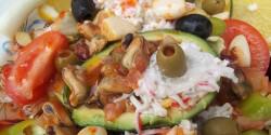 Avokádó paradicsomos-chilis kagylóval