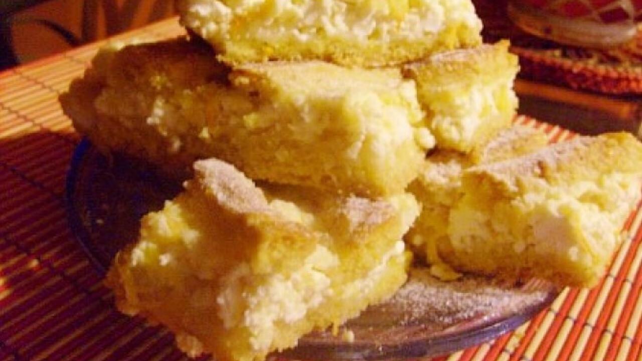 Narancsos-túrós rácsos süti