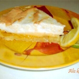 Citromos-habos sütemény