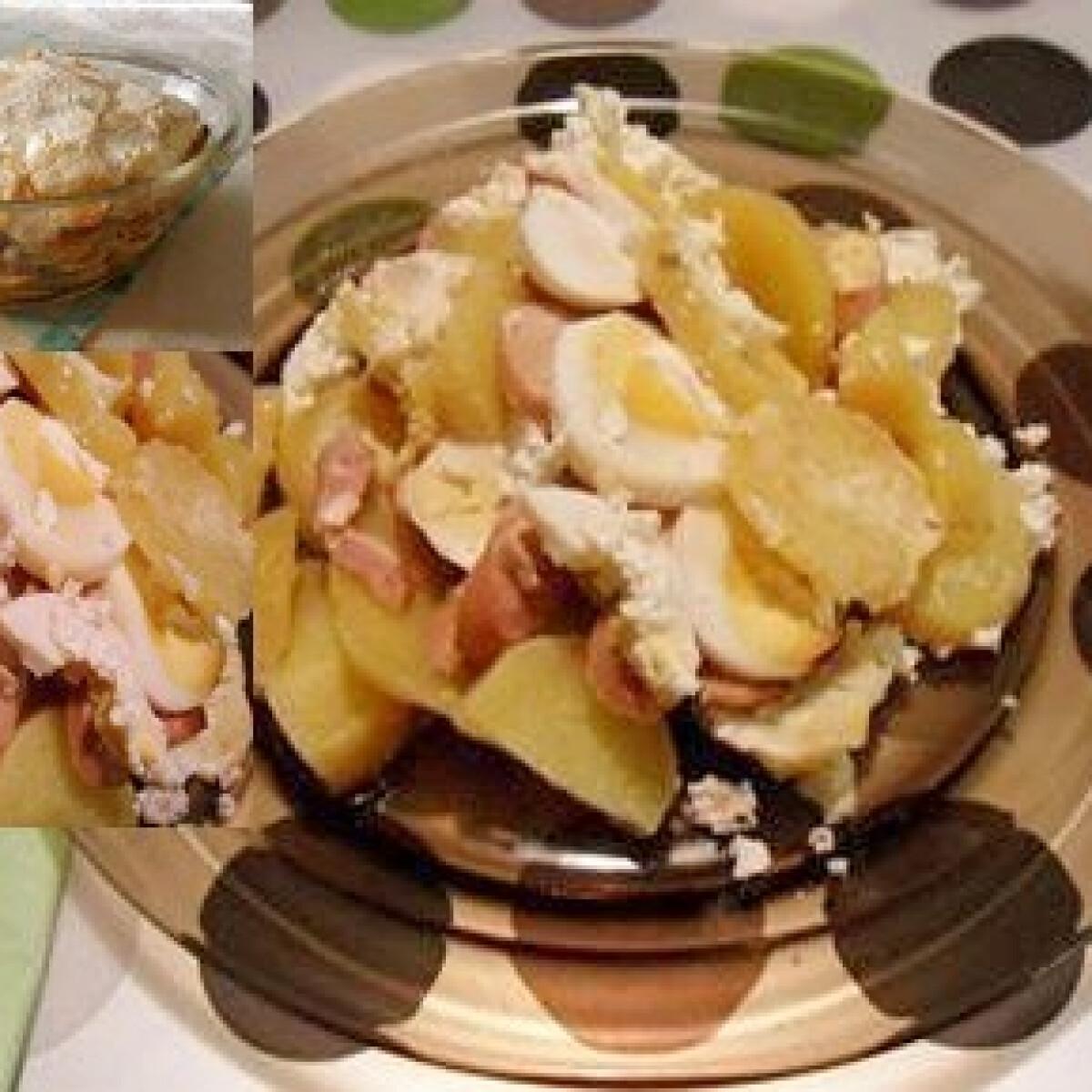 Gyerekbarát rakott krumpli virslivel