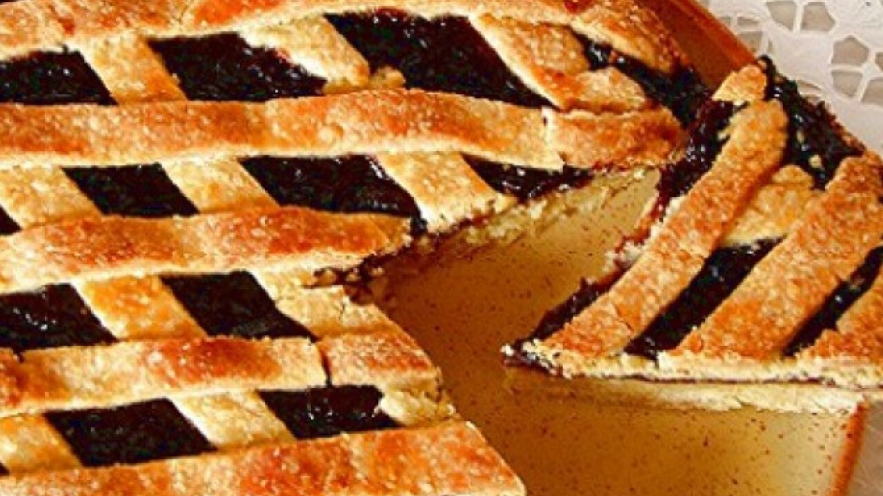 Crostata szilvalekvárral