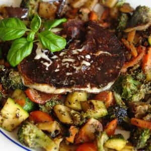 Grillezett mozzarella zöldségekkel