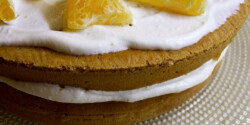 Tejfölös-narancsos torta