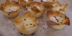 Túróval töltött rétes muffin