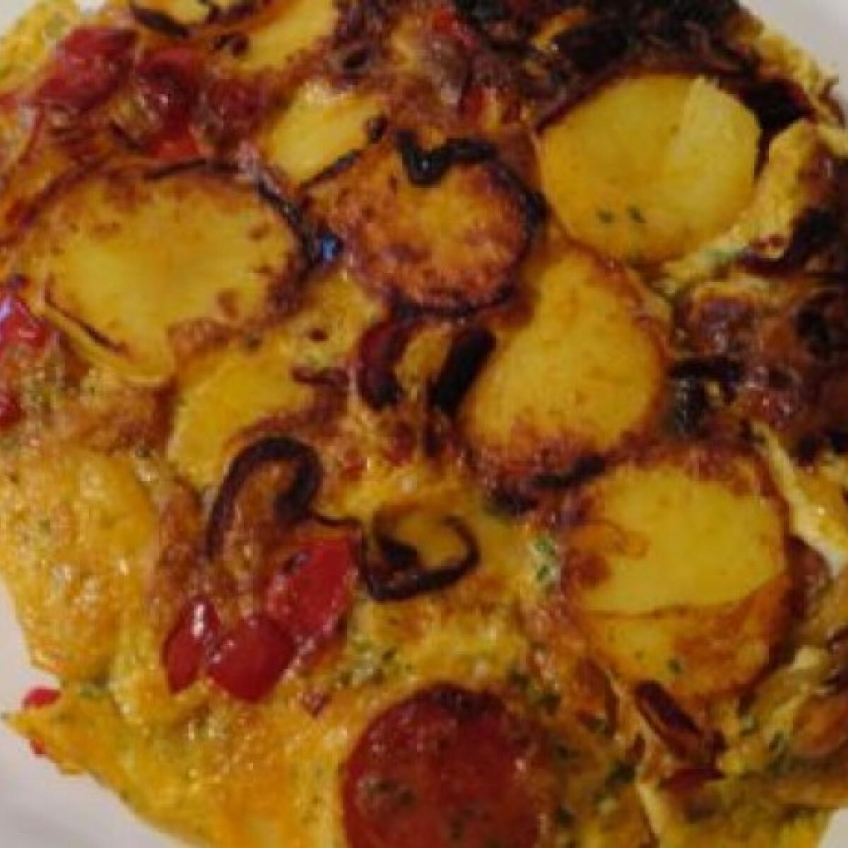 Paprikás-chorizos tortilla