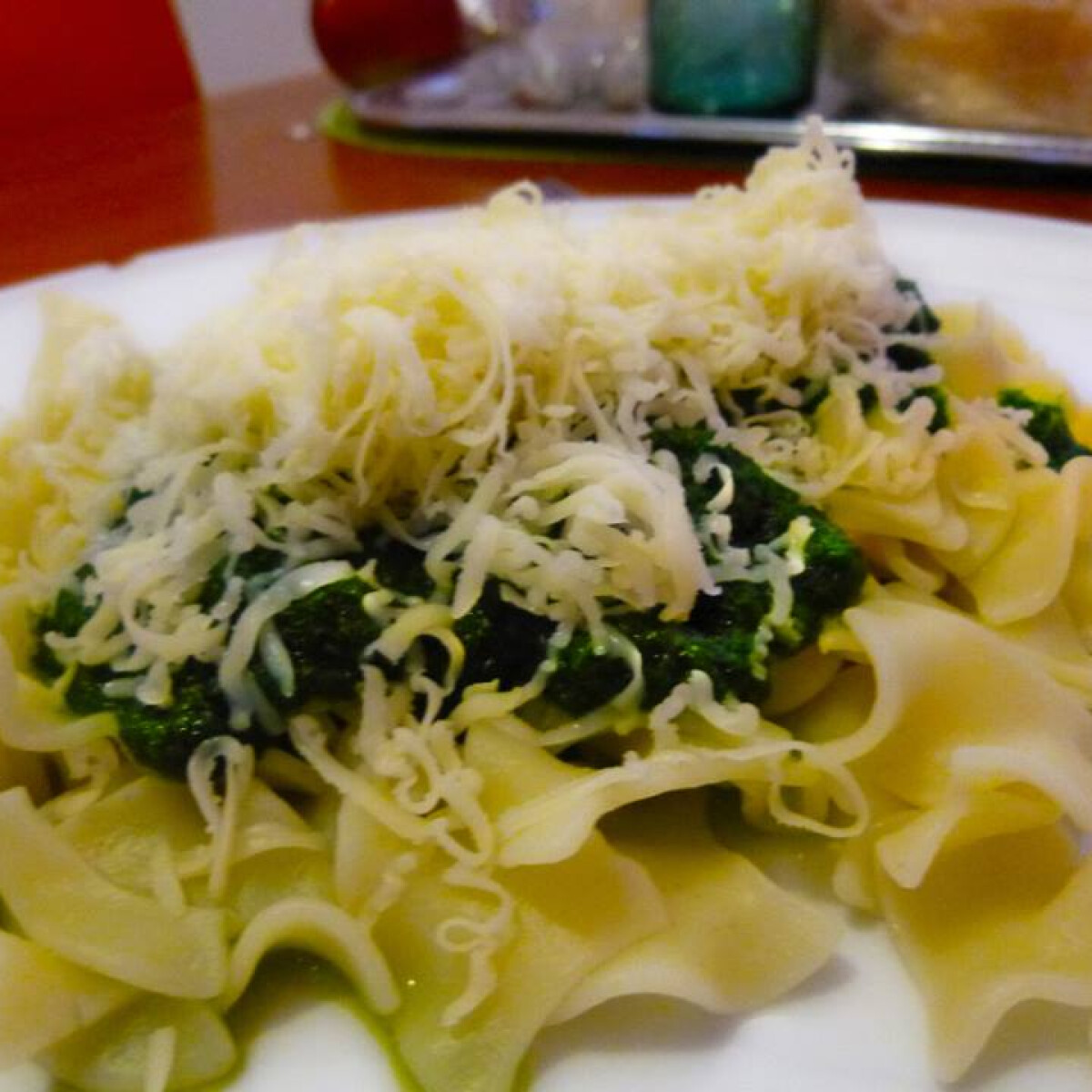 Ezen a képen: Spenótos-sajtos tészta Horandra konyhájából