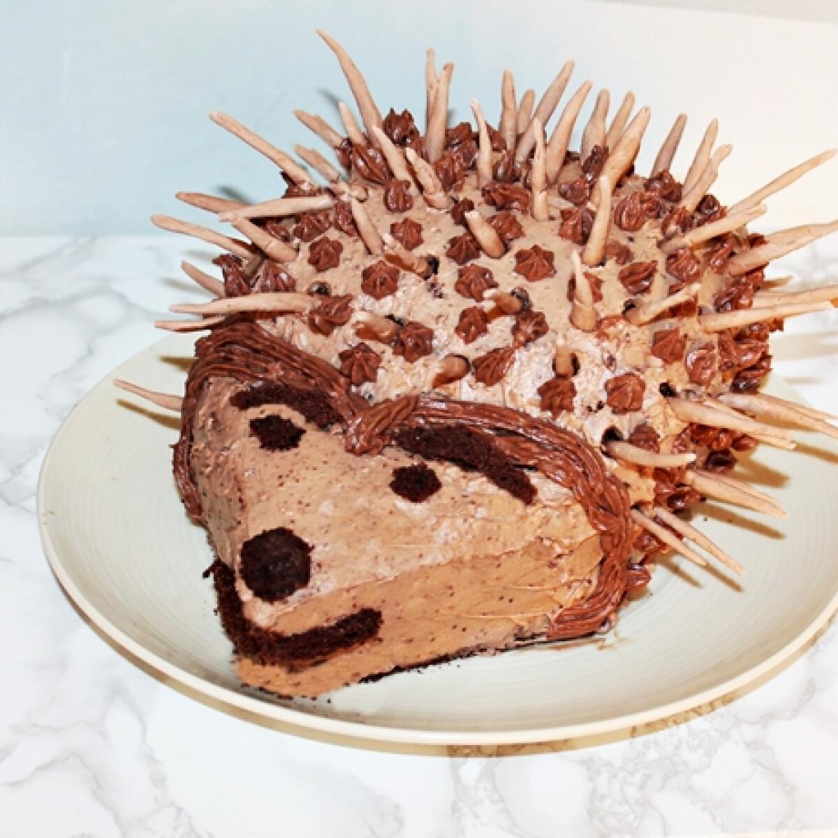 Ezen a képen: Süni torta mokkakrémmel