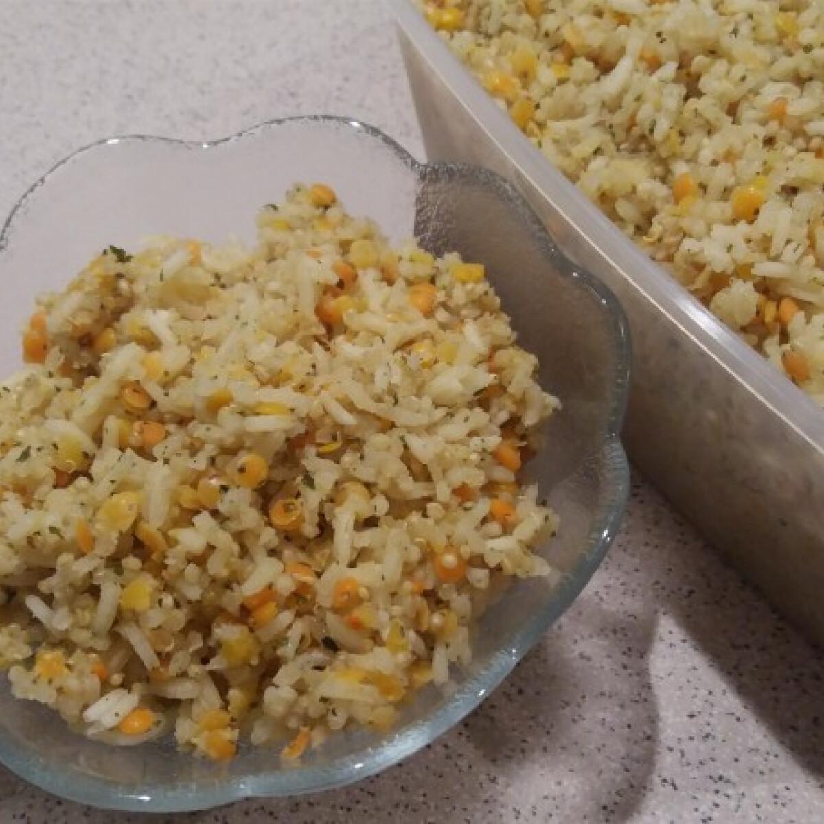 Quinoás jázmin rizs vöröslencsével