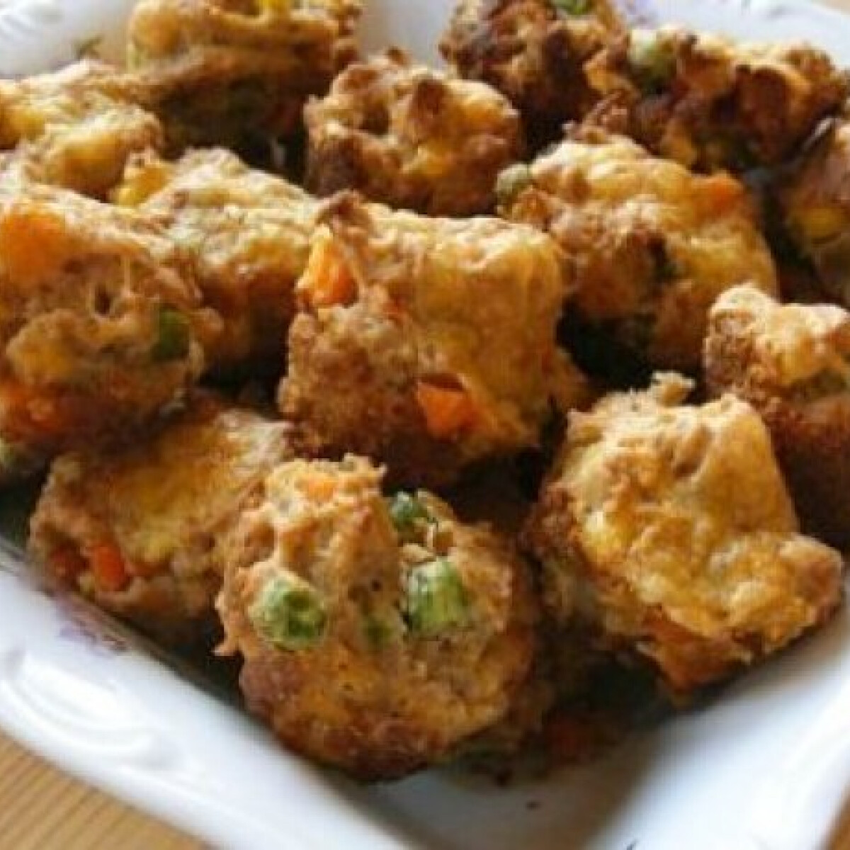 Ezen a képen: Zöldséges mini muffin